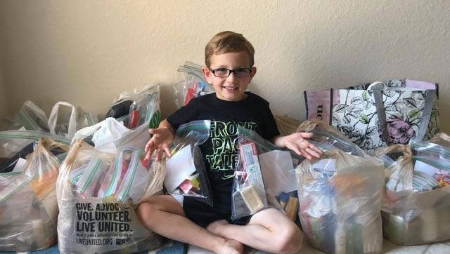 8 Year Old Starts First Blanket Drive